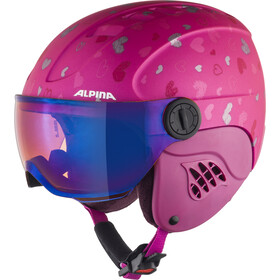 Alpina Carat LE Visor HM Casque Enfant, berry-hearts matt